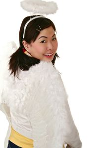 Free Asian Girl With Angel Wing Loo Royalty Free Stock Images - 2483209