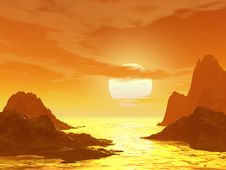Free Sunset And Moutain Stock Photos - 2483603