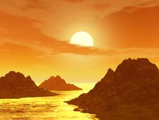 Free Sunset And Moutain Royalty Free Stock Images - 2483609