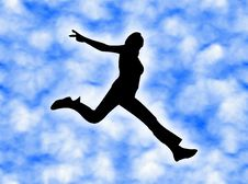 Jumping In The Sky Royalty Free Stock Photo