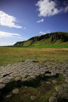 Kirkjugolf Basalt Columns Royalty Free Stock Photo