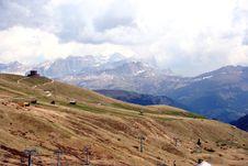 Free Pordoi Pass Royalty Free Stock Photos - 2485338