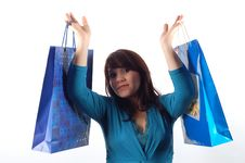 Free Woman With Shopping Bags 11 Royalty Free Stock Image - 2485516