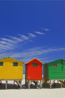 Free Beachfront Huts Royalty Free Stock Photography - 2485677