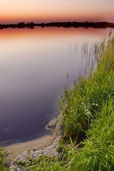 Free Dusk By The Lake Stock Image - 2485961