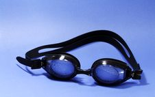Free Goggle Blue Royalty Free Stock Images - 2486949