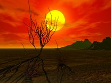 Free Sunset And Moutain Stock Photography - 2487032