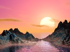 Free Sunset And Moutain Royalty Free Stock Image - 2487036