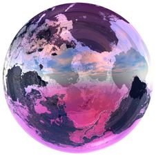 Free Glass Ball Contains The Earth Stock Photography - 2487042