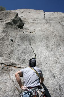 Free Rock Climber Getting Started Stock Photos - 2487393