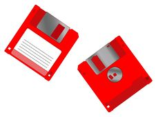 Free Diskettes Royalty Free Stock Image - 2487656