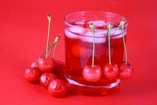 Free Juice Cherry Royalty Free Stock Images - 2488219