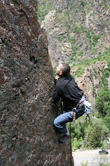Free Rockclimber Royalty Free Stock Photo - 2489505