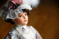 Free Elegant Doll Closeup Stock Image - 2489551