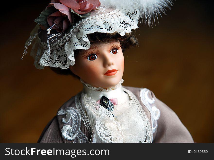 Elegant Doll Closeup