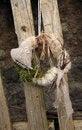 Free Handmade Wreath On The Door Stock Photography - 24800312