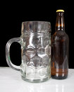 Free Glass And A Brown Bottle Of Beer Stock Photo - 24801950