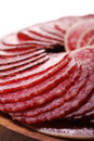 Free Slices Of Fresh And Delicious Salami Stock Images - 24802664