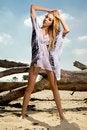 Free Beautiful Blonde Woman In White Shirt Stock Photos - 24803563