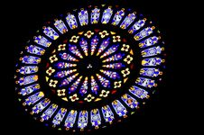 Free Rose Stained Window Royalty Free Stock Photos - 24800118