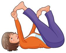 Yoga Position. Stock Image
