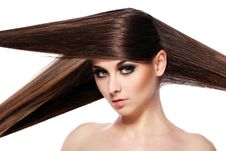 Free Young Woman With Beautiful Hair Stock Images - 24802534