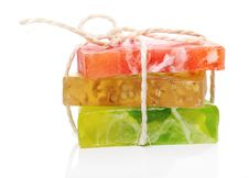 Free Colorful Natural Soap Royalty Free Stock Image - 24802566