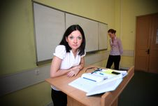 Free Loser Student And Teacher Of Evil Royalty Free Stock Photography - 24803517