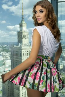 Free Brunette On The Background Of The City Royalty Free Stock Photos - 24803528