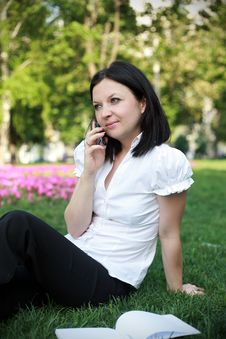 Free Girl Talking On The Phone Stock Photography - 24804402