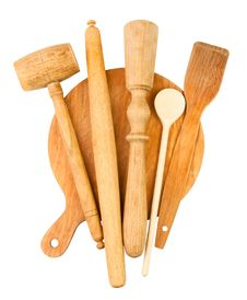 Free Wooden Kitchen Utensil Stock Photography - 24808962