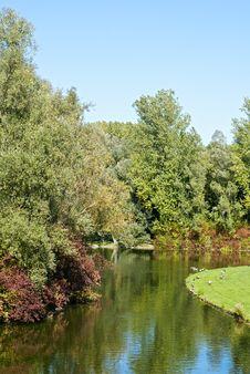 Rheinaue Park In Bonn Royalty Free Stock Images