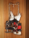 Free Three Pairs Of Old Skates Stock Photography - 24810982