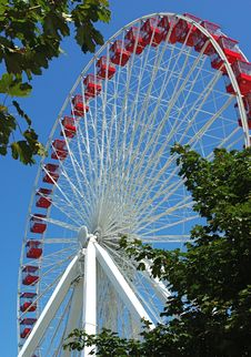 Free Ferris Wheel Ride At Navy Pier, Chicago IL Royalty Free Stock Photo - 24810825