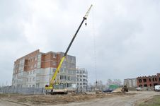 Big Crane On The Background Of The Construction Si Stock Image