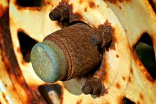 Free Rusty Wheel Hub Stock Photos - 24813643