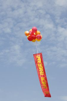 Free Balloons And Banner Stock Photography - 24816752