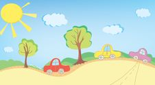 Free Background With Cars And Road Stock Photos - 24819923