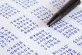 Free Pen And Ciphertext Stock Photos - 24824333