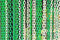 Free Green And White Plastic Chain Royalty Free Stock Image - 24829286