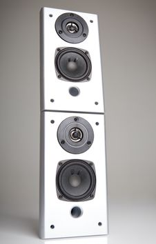 Free Two Audio Speakers Stock Photography - 24824092