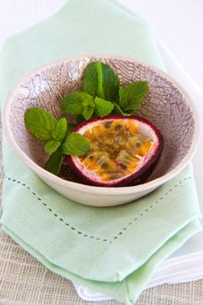 Free Granadilla And Mint Stock Photo - 24824870