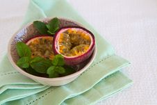 Free Granadilla With Mint Stock Images - 24824954