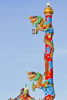 Free Chinese Style Dragon Statue Stock Photos - 24825943