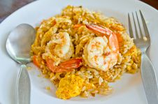 Free Fried Rice With Shrimp Royalty Free Stock Image - 24826816