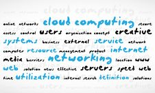 Cloud Computing Word Cloud Stock Photography