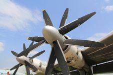 Old Plane Engine Stock Photo