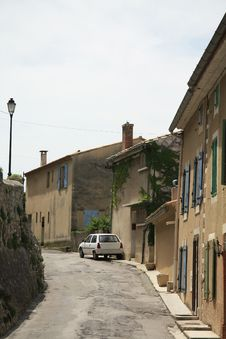 Village Street In The Provence Stock Image
