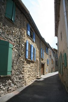 Village Street In The Provence Stock Photo