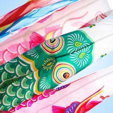 Free Japanese Wind Socks Royalty Free Stock Photos - 24831498
